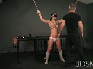 BDSM: Master white fucks her asian slave hard and rough.