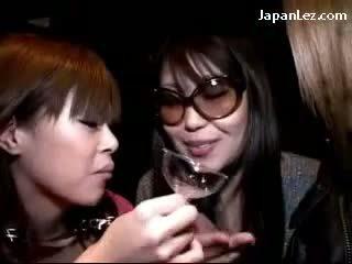 japanese, lesbian, threesome