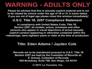 Great Tited Eden Adams And Jayden Cole Licking