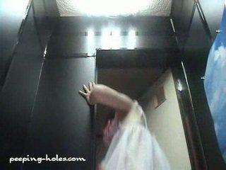 Spycam modeling session lingerie toilet 4