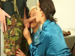 Euro CFNM lesbians sucking dick and cant get enough