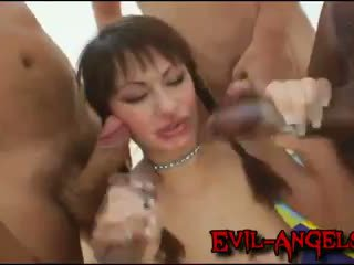 Kid Jamaica - Anita Hengher brutally double anal gangbanged by monster cocks