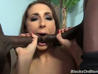 Paige Turnah gets gangbanged and facialed by black