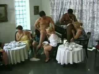Mature Ladies Fucks A Stripper At A Party Video