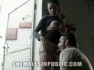 Shemale Sucking Strange boner at A Station