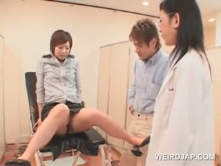 Japanese Girl Gets Full Pussy Check At The Gynecologist