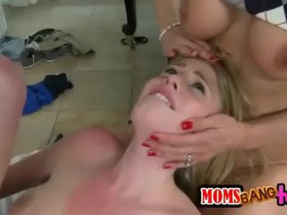Allie James and Tanya Tate cum swapping