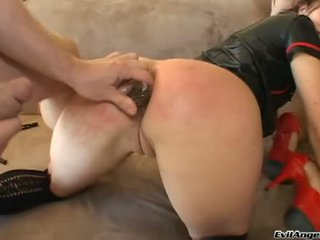 Annette Schwarz Engulf Shlong Whilst Getting Her Ass Lick
