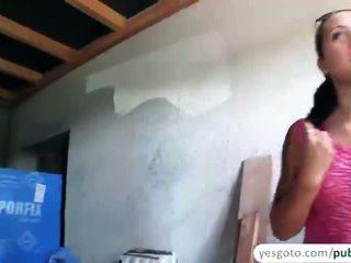 Félénk agata gives egy leszopás és szar -ban nyilvános -ban exchange a készpénz