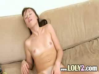 unbelievable girl Evelina using fingers