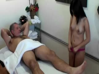 Asian masseuse providing extra services