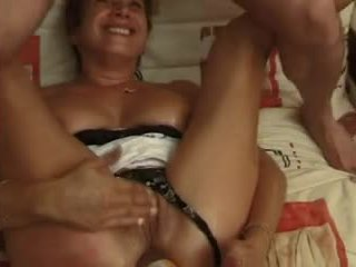FRENCH MATURE 10 blonde anal mom milf in threesome