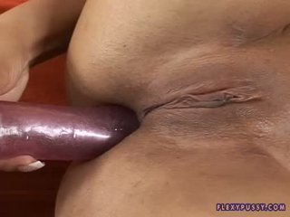 Kyra Black Gets Her ChoColate Gap Pinned With A Hard Toy