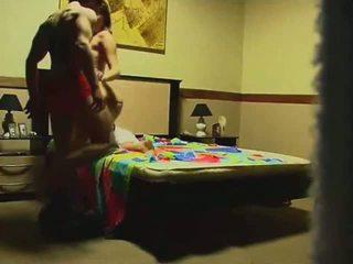 een voyeur video-, online spycam scène, groot amateur film