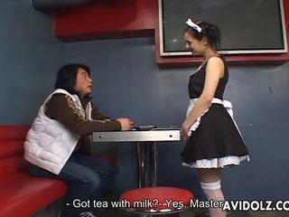 Maria Ozawa Erotic Kiss In Valet Uniform
