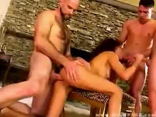 Olivia del rio banged 由 三 dudes