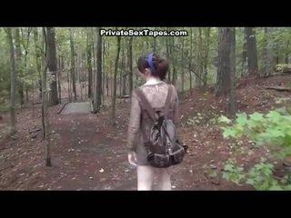bruneta, realita, sex na veřejnosti