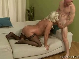 Naughty granny getting anal fucked