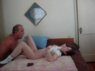 Old Dude Gets Creampied Young Pussy