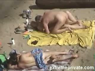 voyeur, beach, granny, mature