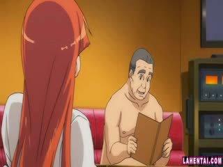 Hentai kotě slammed podle starší člověk