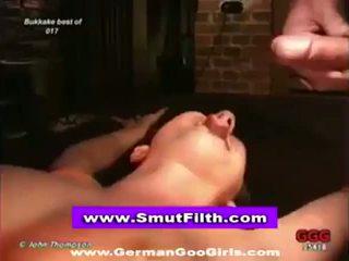 Bukkake euro whore fuck and facial