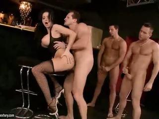 zábava velká prsa zábava, pornohvězdami, punčochy hq