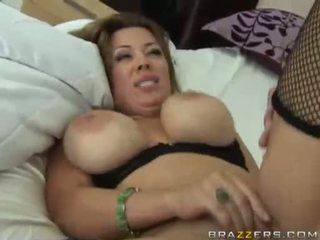 Sienna West Receives A Sprayed With A Warm Jizz On Her Large Juggs