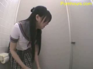 Asian Student Fucking In Public Toilet