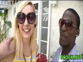 White chick & black stud