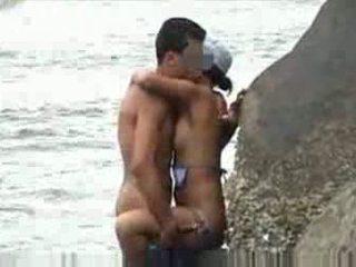 kijken amateurs, vol voyeur mov, strand neuken