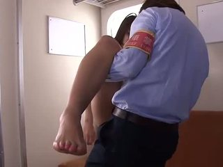 Japanese babe gets fucked during a business meeting