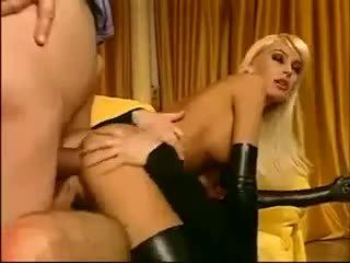 nominale buit porno, dubbele penetratie, handschoenen video-