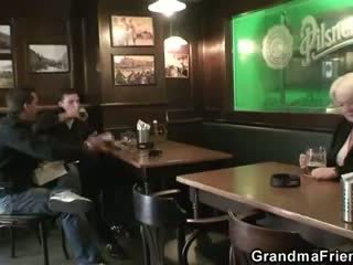 Two buddies pick up drunk granny