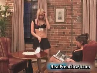 Gorgeous French Girlfriends Licking