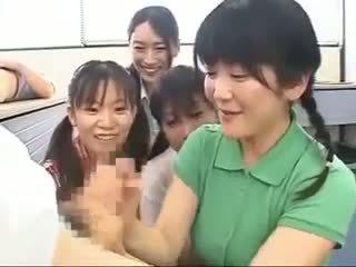 heet japanse video-, handjobs, mooi cfnm