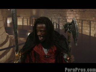 Count fuckula gets a shot at ebony satin lace & decollector
