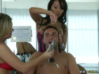see brunette, deepthroat, big tits fuck