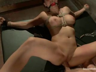 Ginger Nicki Hunter Has Tied Up And Fucked In Both Tunnels