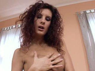 Leanna 甘い lusty ベイブ 上の 高い 踵 ショー 剃る プッシー