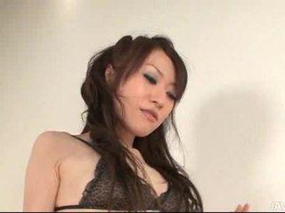 Ryo Kaede plays with her guys nipples making him r
