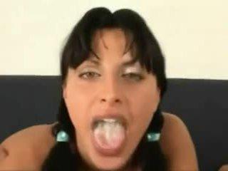 Σπέρμα σε αυτήν στόμα συλλογή
