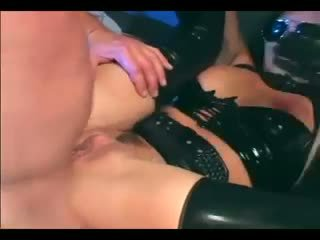 Venus - Busty female cop in uniform and latex gloves deepthroating and fucking