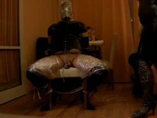 Intense P.O.T. femdom handjob private sesion with breathplay