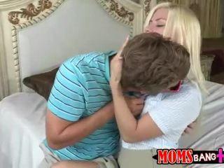 Mamuśka syren demer połączyć nastolatka para w łóżko