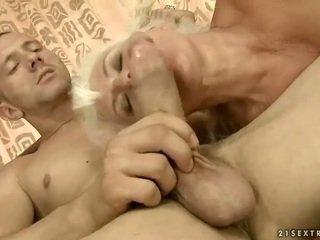 Lusty senelė gets pakliuvom gražu sunkus
