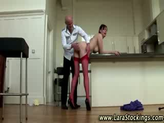 Real European doll gives guy a bj ans teases him