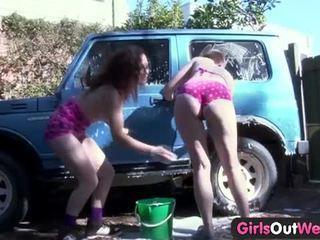 Girls out west alexx & rosie in car wash scene