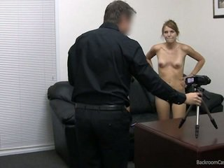 Casting two young girls. Facial cumshot