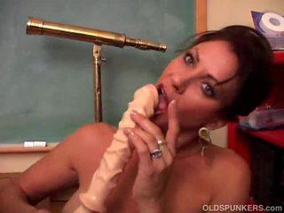 brunette, toys, big boobs, masturbating